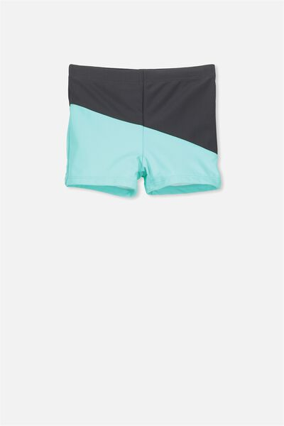 Billy Boyleg Swim Trunk, PHANTOM/SEA TINT SPLICE