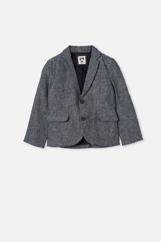 Boston Blazer, NAVY TEXTURE