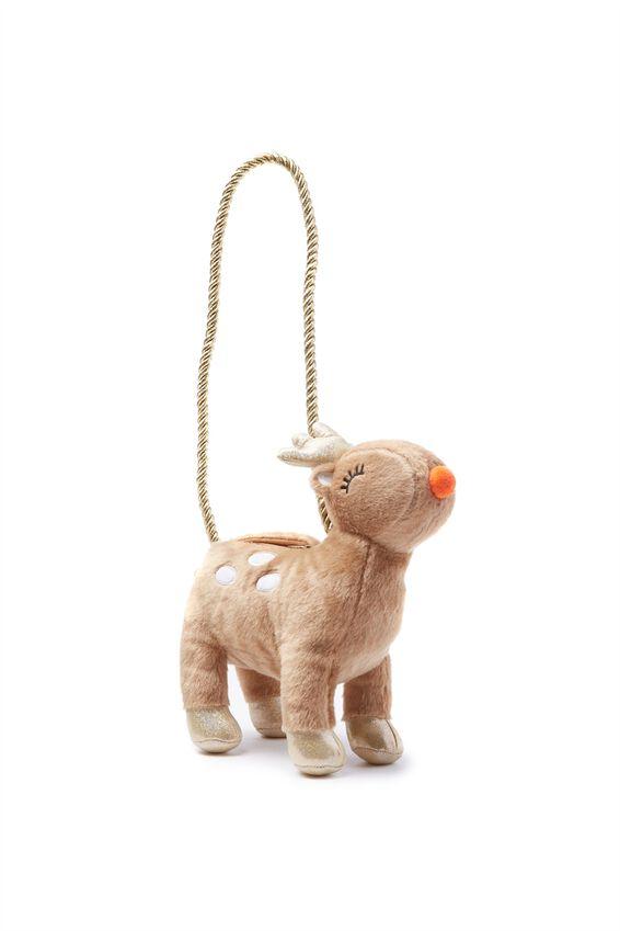 Plush Animal Bag, REINDEER