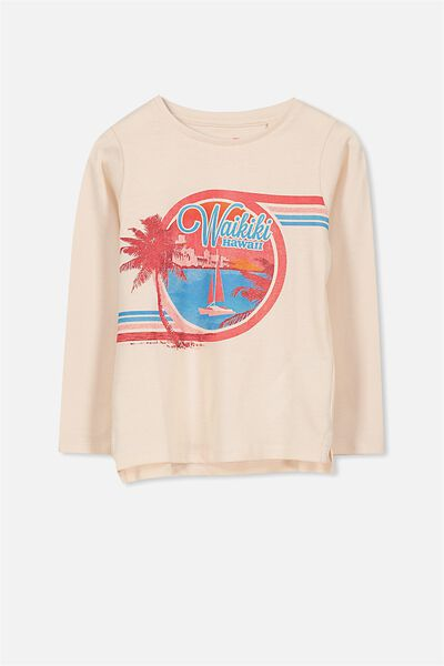 Penelope Long Sleeve Tee, LIGHT PINK/WAIKIKI/SET IN