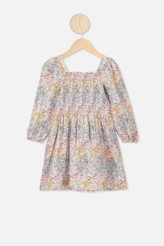 Kip&Co Long Sleeve Dress, KIP&CO/LITTLE FLOWERS
