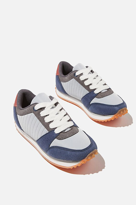 Retro Trainer Splice, PETTY BLUE MULTI