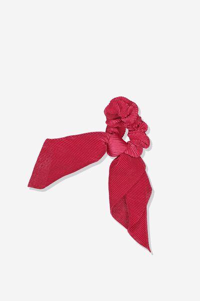 Scarf Scrunchie, RED CRINKLE