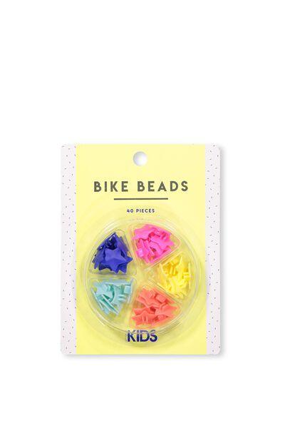 Kids Bike Beads, MULTI COLOUR STARS