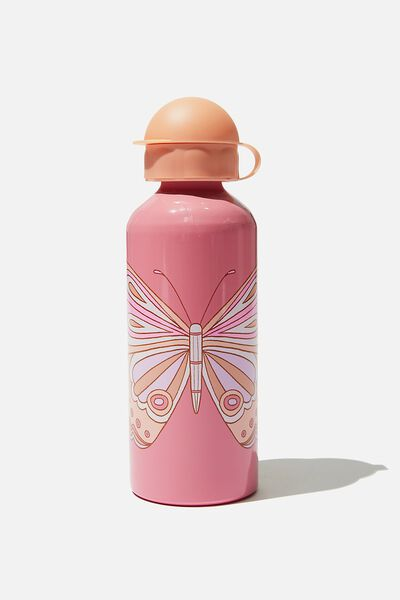 Aluminium Drink Bottle, ROSE BUTTERFLY