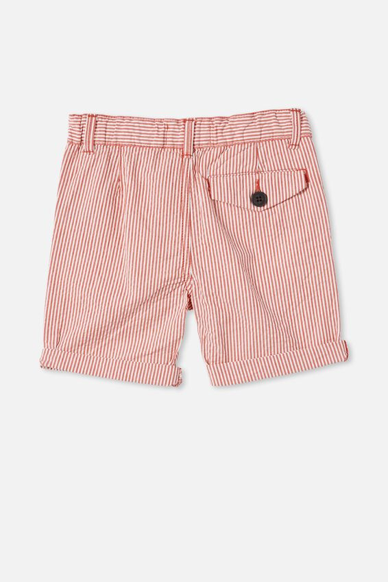 Walker Chino Short, STRIPE / TOMATO PUREE