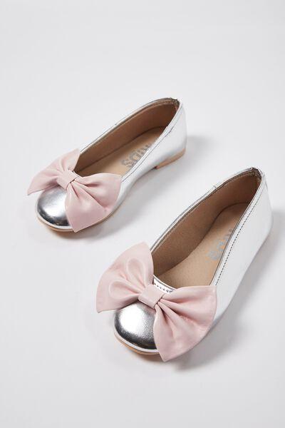 Ballet Flats, SILVER BOW