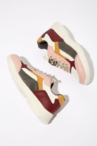 Marley Trainer, COLOUR BLOCK
