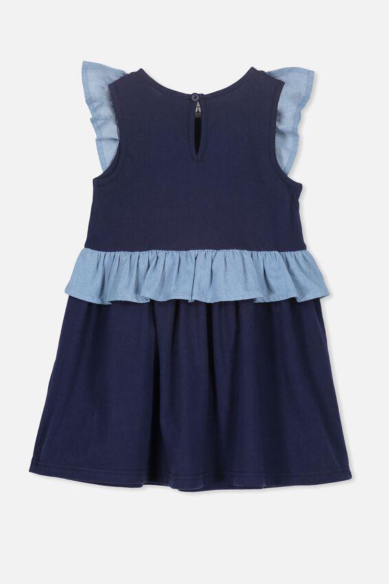 Sheridan Sleeveless Dress, PEACOAT