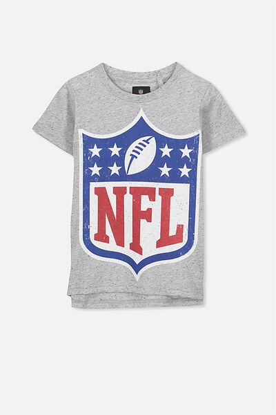 Short Sleeve License Tee, LT GREY NEP/NFL SHIELD