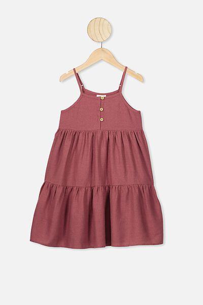 Mackenzie Sleeveless Dress, HENNA