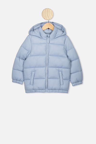Frankie Puffer Jacket, DUSTY BLUE