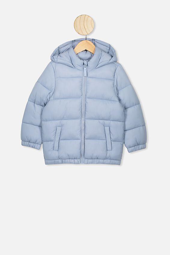 Frankie Puffer Jacket, DUSTY BLUE