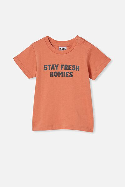 Jamie Short Sleeve Tee, DUST STORM/STAY FRESH HOMIES