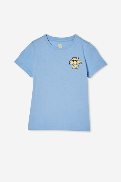 Max Short Sleeve Tee, DUSK BLUE/JUST CHILLING LAH