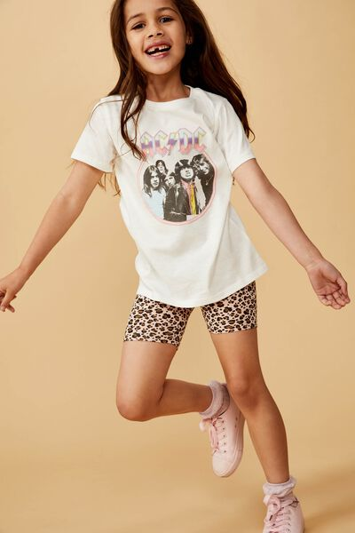 Lux Short Sleeve Tee, LCN PER VANILLA/ACDC PASTEL/MAX