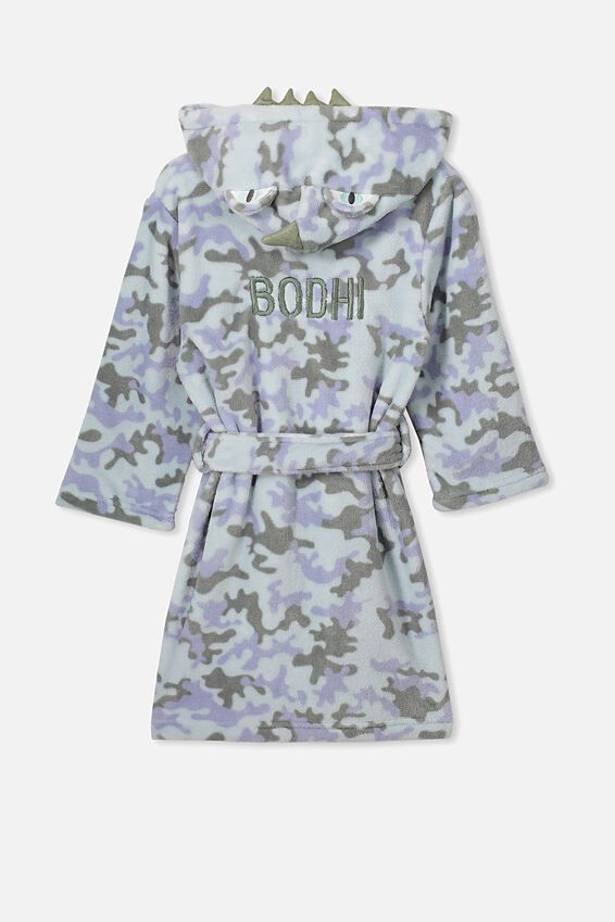 Personalised Boys Long Sleeve Gown, DINO CAMO- PERSONALISED
