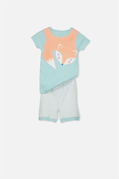 Nicole Short Sleeve Girls Pj, SLEEPY FOX
