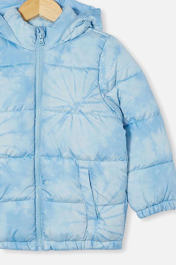 Frankie Puffer Jacket, SKY HAZE TIE DYE