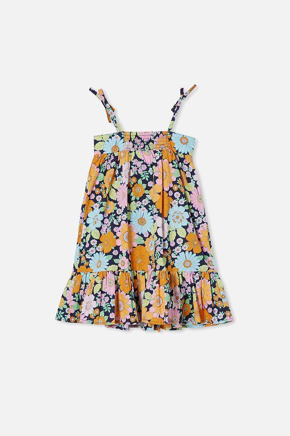 Elle Sleeveless Dress, INDIAN INK/RETRO FLORAL