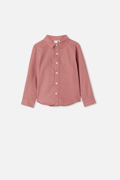 Harper Long Sleeve Shirt, DUSTY BERRY