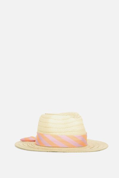 Floppy Hat, NATURAL/STRIPE