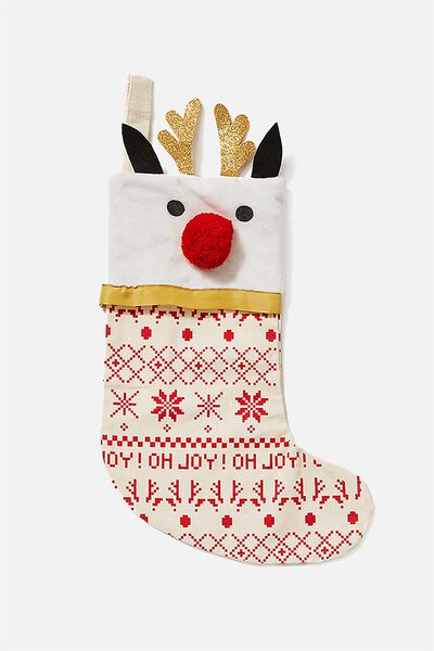 Kids Large Stocking, FAIRISLE REINDEER