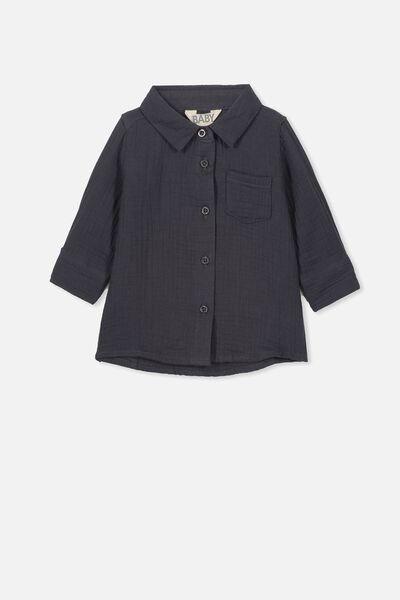 Bryn Long Sleeve Shirt, GRAPHITE GREY