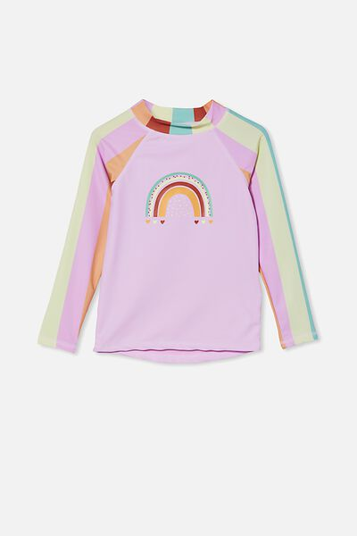 Hamilton Long Sleeve Rashie, RAINBOW STRIPE