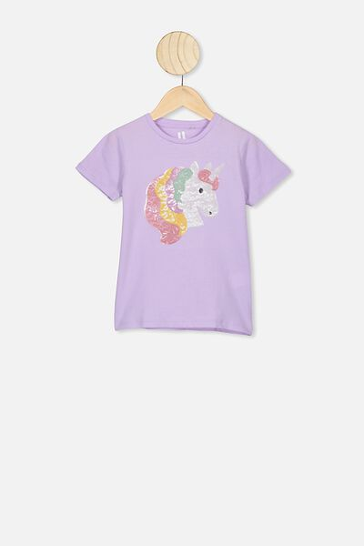 Stevie Ss Embellished Tee, VINTAGE LILAC/SEQUIN UNICORN