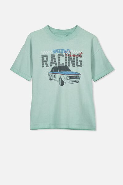Skater Short Sleeve Tee, ICY WASH/SPEEDWAY RACING