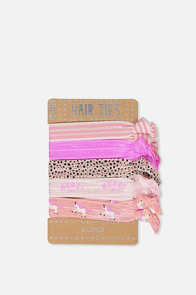 Knot Messy Hairties, PINK/MERCI