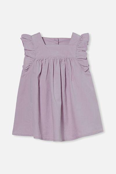 Twyla Flutter Dress, LAVENDER FOG