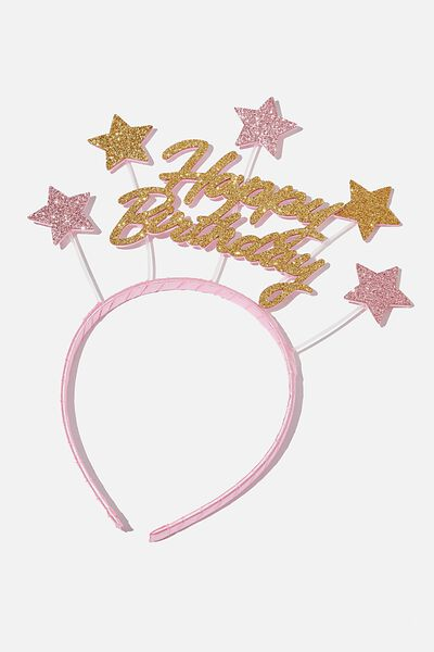 Novelty Headband, BIRTHDAY STAR
