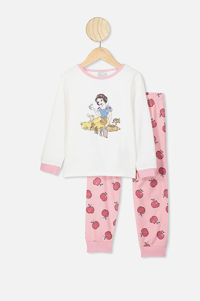 Edith Long Sleeve Pj Set, LCN DIS VANILLA/ZEPHYR SNOW WHITE AND FRIENDS