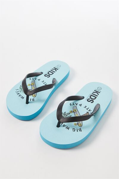 Printed Flip Flop, B BIG WAVES
