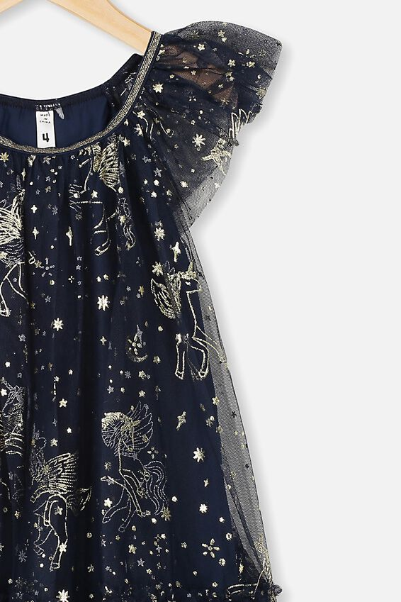 Iris Tulle Dress, NAVY BLAZER/PEGASUS