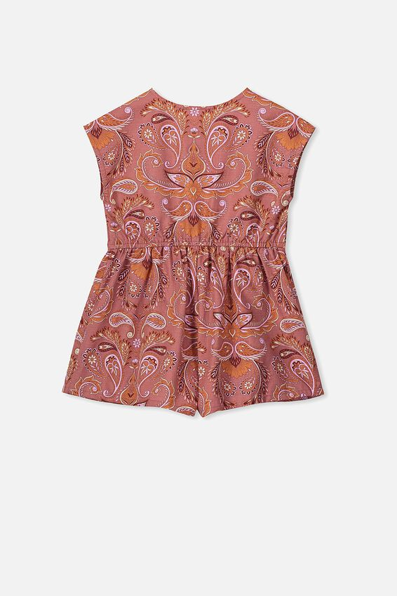 Asha Playsuit, RUSTY ROSE/PAISLEY