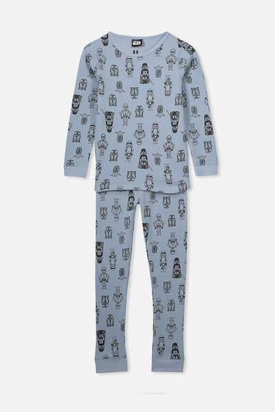 Jack Boys Long Sleeve Waffle Pyjama Set, LCN LU STAR WARS/CHARACTERS