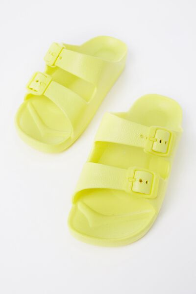 Twin Strap Slide, CITRONELLA