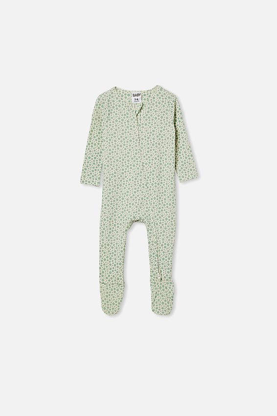The Snug Long Sleeve Zip Romper, SMASHED AVO/EDITH FLORAL