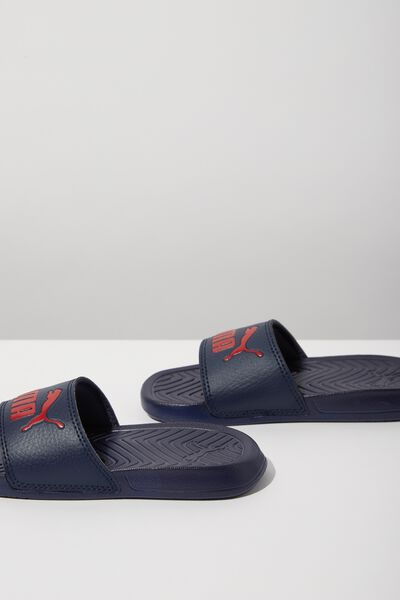 Puma Cat Slide Youth, RIBBON RED BLUE WHITE