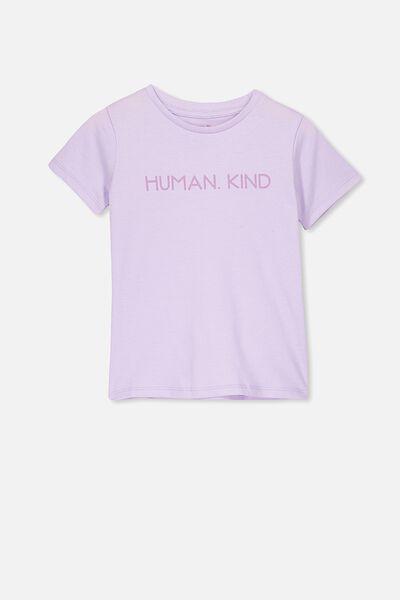 Penelope Short Sleeve Tee, VINTAGE LILAC/HUMAN KIND/MAX