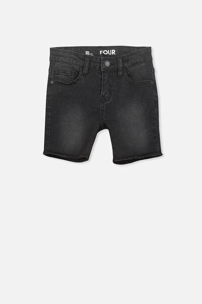 Pacey Denim Short, BLACK