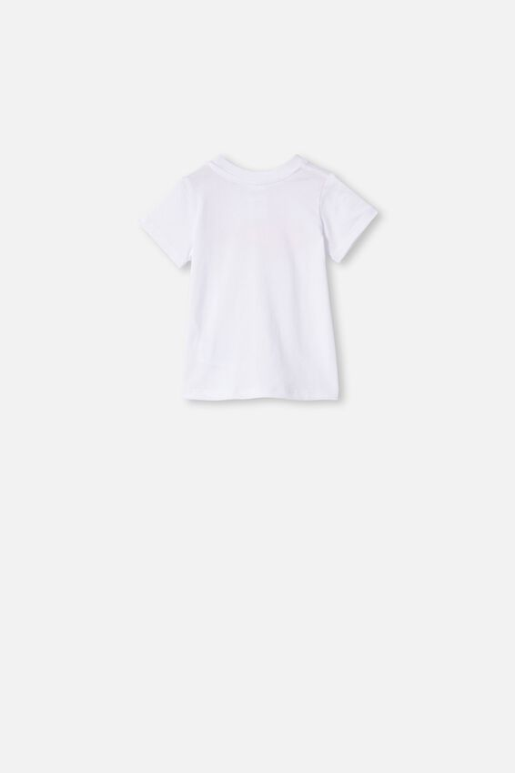 Jamie Short Sleeve Tee, WHITE/BE MERRY