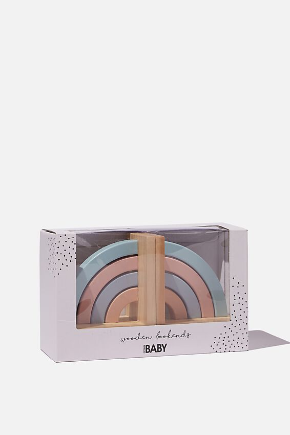 Wooden Book Ends, RAINBOW