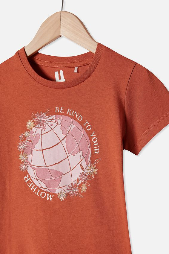 Penelope Short Sleeve Tee, ROASTED ALMOND/MOTHER EARTH