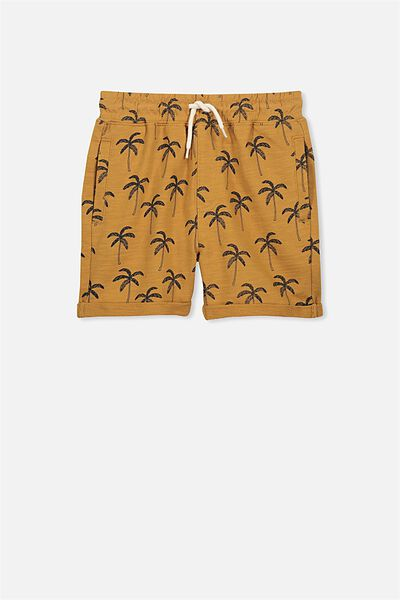 Henry Slouch Short, BURNT BISCUIT/PALMS