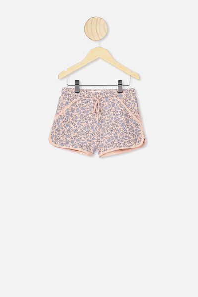 Nina Knit Short, PEACH WHIP/SPRIGGY FLORAL