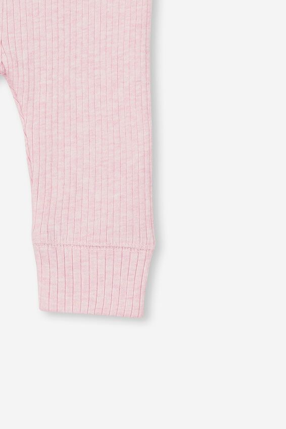 The Rib Legging, PINK MARLE